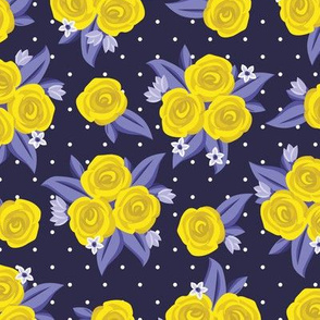 Yellow Rose Polka Dot