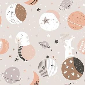 Sleeping rabbits on moons