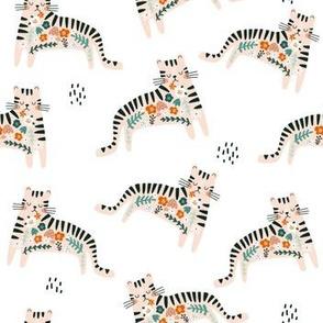 Cute floral tiger