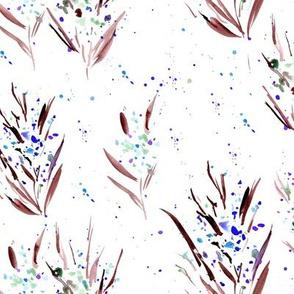 watercolor splatter dainty flowers - splash florals for modern home decor bedding nursery