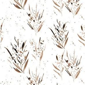 earthy watercolor splatter dainty flowers - splash florals for modern home decor bedding nursery p334