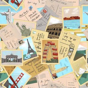 Vintage Postcards Handdrawn