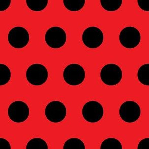 2cm Polka dot Black and Red