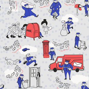 A mailman's day at work