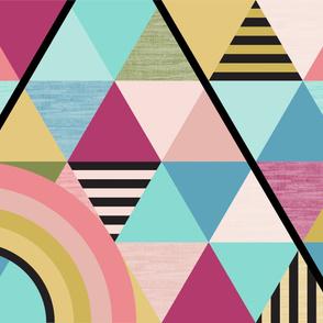 rainbow triangle cheater quilt yard