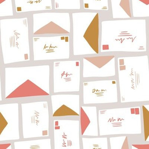 Snail Mail Letters and Envelopes - pink - small scale