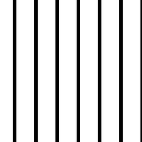 Narrow retro stripe (small) - black