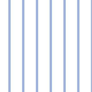 Narrow retro stripe (small) - sky blue