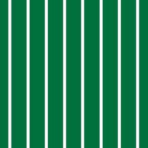 Deep green with narrow white stripe (small)