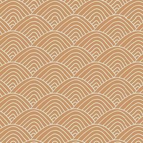 Minimalist sea ocean waves and surf vibes abstract salty water minimal Scandinavian style stripes caramel cinnamon white