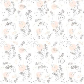 Line-Art Nature Love Pattern - Matisse 1S
