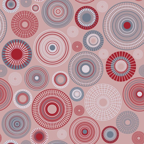 large concentric circles mauve slate