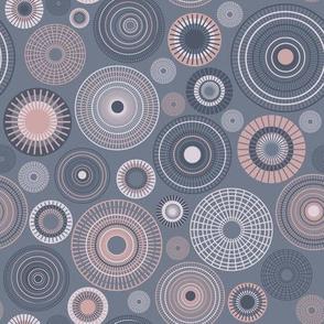small concentric circles slate mauve