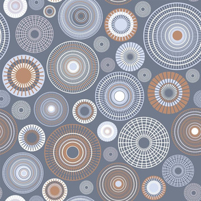 large concentric circles gray and brown