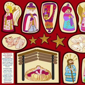 Nativity-Appliqué-Red-The Talavera Twins