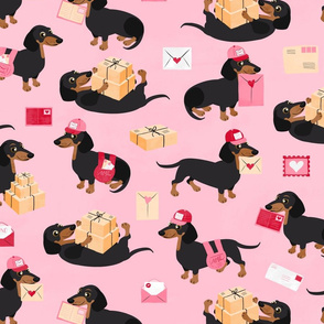 Special Delivery Dachshunds Pink