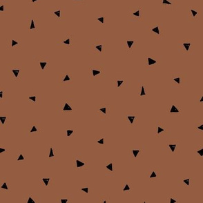 Little triangle confetti minimalist geometric Scandinavian modern trend nursery copper rust brown