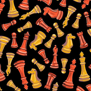 Tossed Chess Black Large