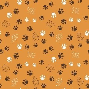 Animals footprints seamless pattern