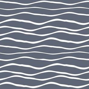Blue white underwater summer waves