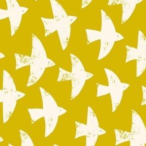 soar high medium scale in mustard yellow by Pippa Shaw