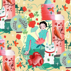 asian vintage kitsch love // micro scale