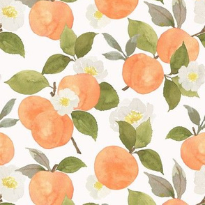 Peaches and blossoms