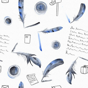 Inkling letters and feathers