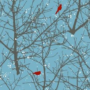 Winter Tree Cardinals