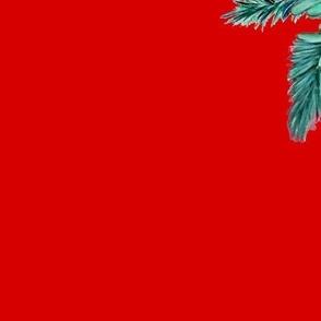 retro ice skates on red