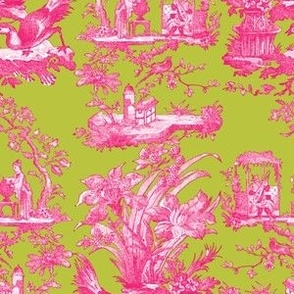 Chinoiserie Toile ~ Courtesan on Usurper~ Medium