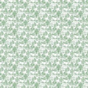Mini Green Toile Sampler Swatch or Fat Quarter ©2012 by Jane Walker