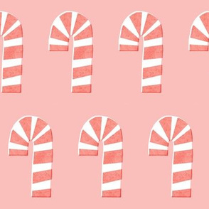 Pink Minimal Candy Canes