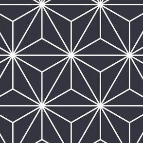 Twilight Blue Japanese Asanoha Pattern -Regular  Scale