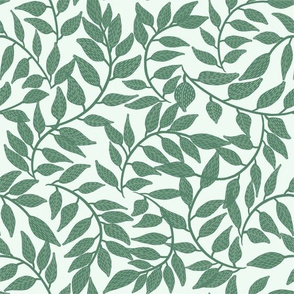 Leaves fabric / Simple greenery / green vines