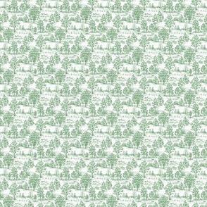Mini Toile Green ©2012 by Jane Walker