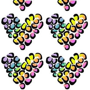 Rainbow Leopard Hearts