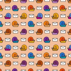 colorful snail mail