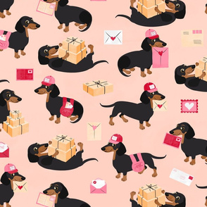 Special Delivery Dachshunds Peach