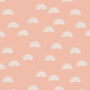 Little sunrise sunset rainbow design minimalist scandinavian boho design coral rose blush