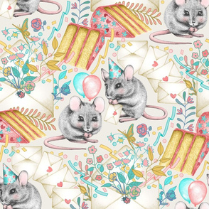 Mouse House Garden Party - Invitations Via Snail Mail