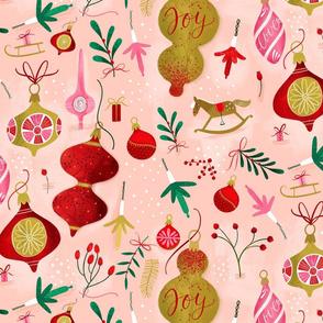 Vintage Pink Baubles