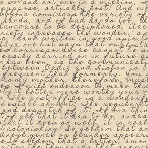 Vintage letter. Large scale