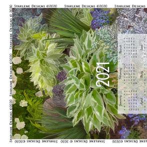 2021 Winter Garden Tea Towel