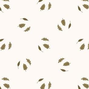 Seamless background tree leaf gender neutral pattern.