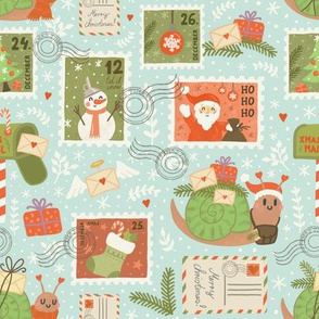 small - christmas snail mail