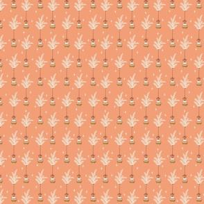 Ribbon Ornaments - Peach - Mini