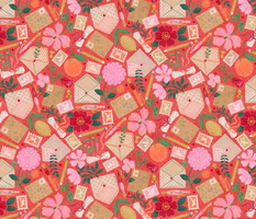 """Kitschy Whimsy Mail (coral red) 14"""""""