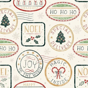 Snail Mail Farmhouse Christmas Special Delivery Stamps