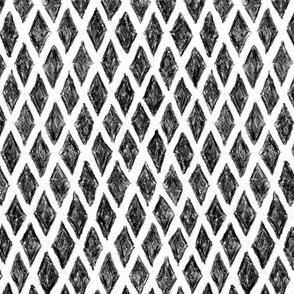 crayon diamonds in black